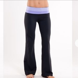 Lululemon Groove Pant Black Heathered Grapeseed